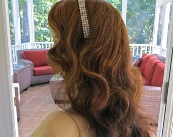 Rhinestone Bridal Headband, Rhinestone Wedding Tiara, Bridal Rhinestone Headpiece