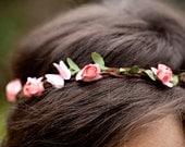 Custom Color Flower Crown Headband - Adult Headband Woman - Butterfly Headband - Womens Fairy Costume - Spring Boho Wedding Headband