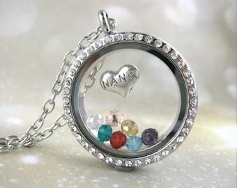 NaNa Necklace - Nana Gift For Grandmother - Personalized Jewelry - Nana Sign Necklace - Grandma Locket