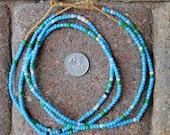 Small Glass Beads: Light Blue -2 Strands