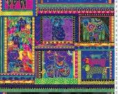 Dog and Doggies Panel Metallic - Laurel Burch - Clothworks - 1 panel - More Available