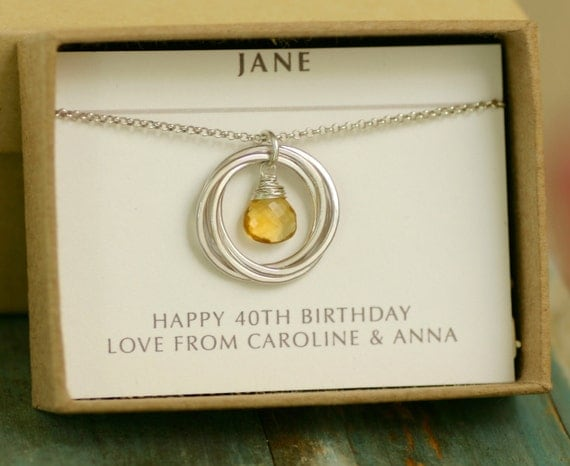 40th Wedding Anniversary Gifts For Friends: 40th Birthday Gift 4 Sisters Necklace Best Friend Jewelry For