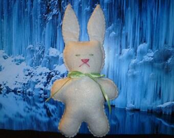 Plush bunny white rabbit stuffed animal toy gift for a little girl