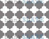 Linked Moroccan Tiles Stencil -  8x8