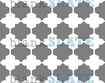 Linked Moroccan Tiles Stencil -  12x12
