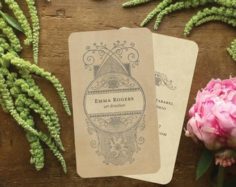 Business Cards, Calling Cards, Vintage Calling Cards, Custom Stationery, Retro Business Cards, Custom Logo, Logo Design, Vintage Stationery