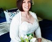 Bridal Cover Up, Wedding Shrug, Bolero Shrug, Lace Bridal Bolero, Lace Jacket, LINED