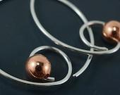 Spiral Hoop Earrings. Silver Hoop. Rose Gold Hoop. Yellow Gold Hoop. Niobium Hoop. No.00E209
