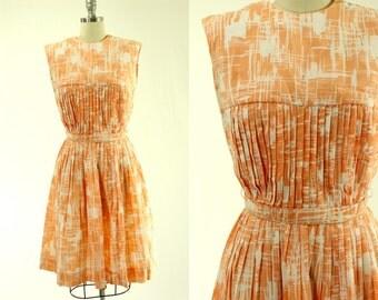 1960's Orange Creme Dress M L Pacemaker Jrs