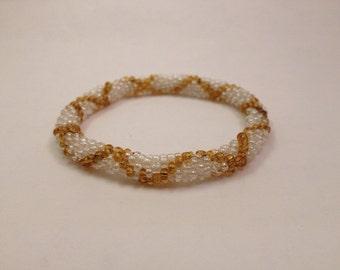 Crochet Bead Bracelet- Halo