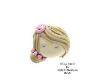 Doll Face - Focal Bead