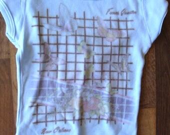 Vintage New Orleans French Quarter airbrush t shirt kids size 4 5 butterflies souvenir