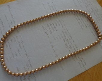 Necklace Beautiful 28 inch golden faux pearl necklace - perfect condition  never used