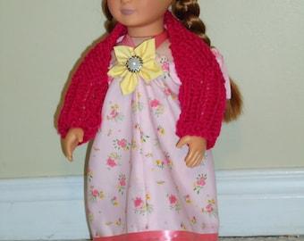"18"" Doll Dress & Shrug set"