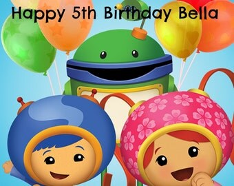 Edible Image - TEAM UMIZOOMI Cake, Cookie, Cupcake Topper