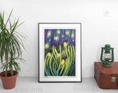 Fireflies, Signed Metallic Art Print small