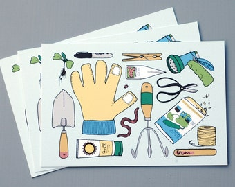 Garden Tools - Postcards (Set of 3)