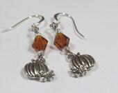 Halloween Pumpkin Earrings in Orange or Black, Halloween Jewelry, Halloween Earrings, All Hallows Eve, Day of the Dead, Samhain Jewelry