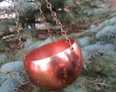 Hanging Copper Cauldron, Smudge Pot, Hanging Copper Planter,Coppercraft Guild, Witchcraft,Wiccan, Pagan Witch,Witches Cauldron,Samhain