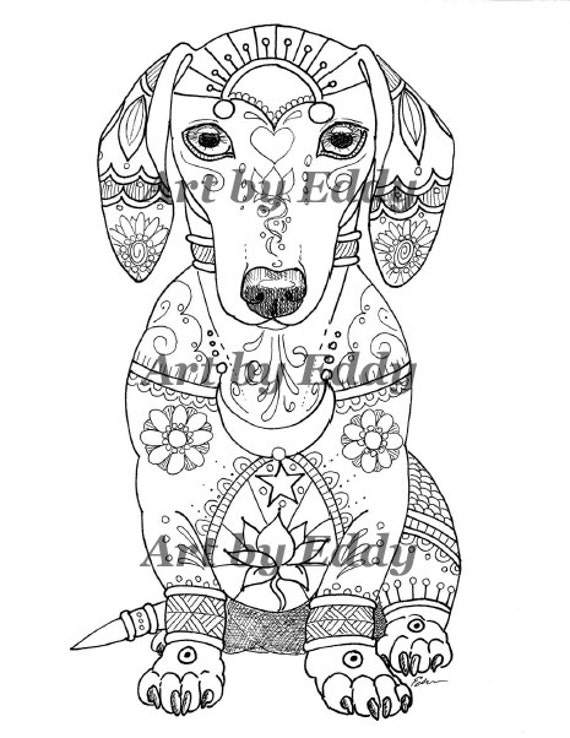 dachshund puppies coloring pages - photo#37