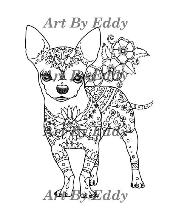 beverly hill chihuahuas coloring pages | Art of Chihuahua Single Coloring Page