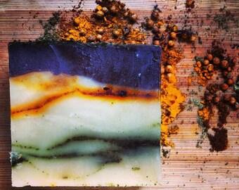 Jabon de Lechon - Bodega's pork fat soap with Cilantro, Lemon, Lime, Basil - Organic