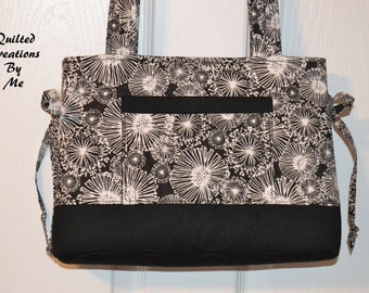 Quilted Handbag Tote Bag Bow Tuck Style CUSTOM MADe FoR YOU by QuiltedCreatonsByMe