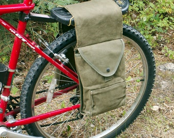 Canvas Pannier Bicycle Bag Bike Saddle Bags
