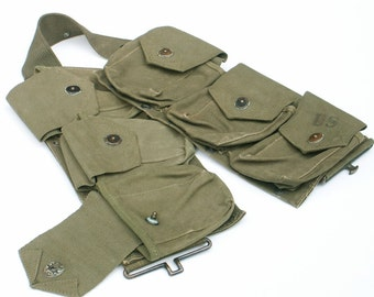 Military US WWII BAR Canvas Ammo Belt M1937