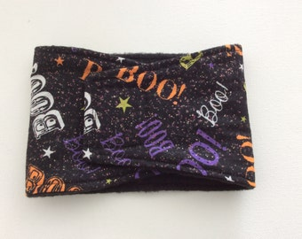 Male Dog Diaper - Belly Band - Belly Wrap - Boo on Black with Glitter - Available in all Sizes