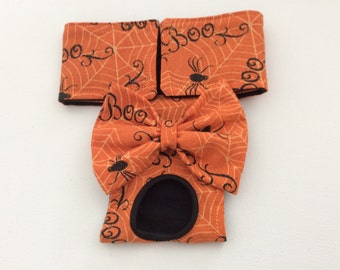 Female Dog Diaper - Panties - Britches - Orange Boo with Sparkle - Available in all Sizes