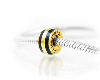 Thin Line® Dispatcher Charm, Elegant Vermeil Gold on Sterling Silver