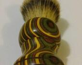 Campfire Colorwood Shaving Brush, Chunky Handled, 26mm Silvertip #SH20