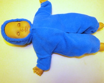 One Piece Fleece Sleeper To Fit Bitty Baby Size Doll