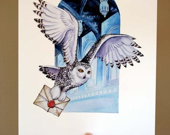 Owl Mail ! Archival quality print, based on the original watercolor