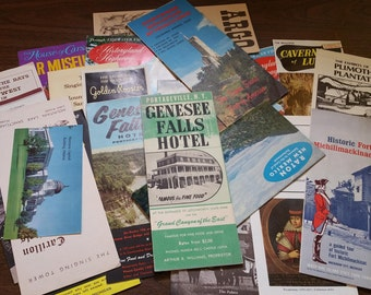 TRAVEL BROCHURES, Mixed Lot of 27, Various States and Attractions, 1960's to 1970's, Vintage Road Trip Ephemera