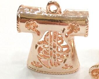Rose Gold Plated Brass Ottoman Robe Pendant 30x25mm G3934