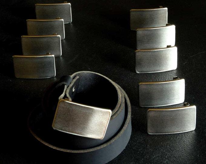 "Belt AND Buckle SET Wedding Accessories Personalized Keepsakes Groom & Groomsmen's  Stainless Steel Belt Buckles Hand Forged Fits 1.25"" Belt"