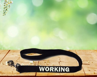 Working Dog Leash Service Dog Control Lead Embroidered with Working