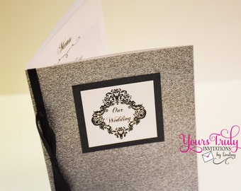 Maximum Glitter Program booklet for wedding in your colors