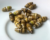 19 paper beads - yellow gold -