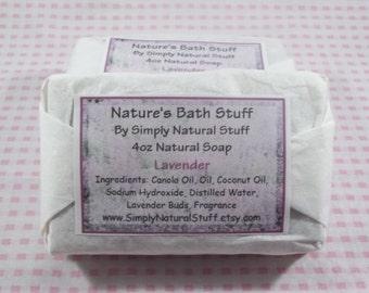 Lavender Soap, Natural Hot Process Soap, Handmade Soap, Natural Soap, Moisturizing Soap, Scented Soap, Vegan Soap