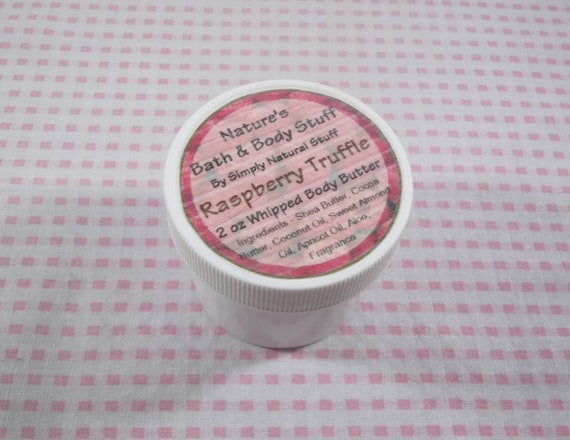 Raspberry Truffle Whipped Body Butter 2oz Jar Of Body Butter