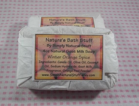 Winter Orange Spice Soap, Natural Hot Process Soap, Handmade Soap, Natural Soap, Scented Soap, Moisturizing Soap, Goat Milk Soap