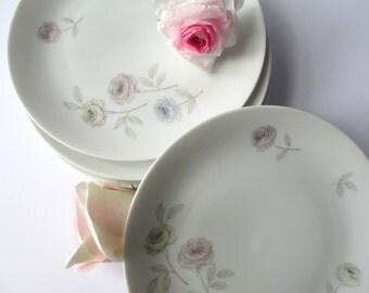 Vintage Thomas Eva Zeisel Pastel Floral Salad Plates Set of Six