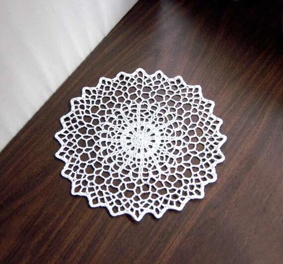 Geometric table decor crochet lace doily modern home decor for Lace home decor