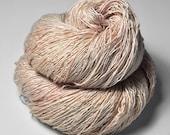 Blushing maiden OOAK - Tussah Silk Fingering Yarn