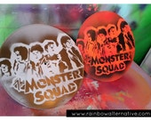 The Monster Squad upcycled vinyl record painting street art spray paint original stencil