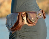 "Leather Utility Hip Belt _""ORIENTALE"" High Quality Handmade Designer Pocket Belt . Urban Lifestyle [Festival.Travel.Hip Purse]"
