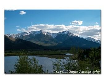 Vermillion Lakes Print, Canadian Landscape Photography, Banff National Park, Rocky Mountains, Sundance Range, Blue Lodge Decor, Office Art